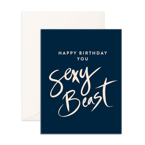 Sexy Beast Greeting Card