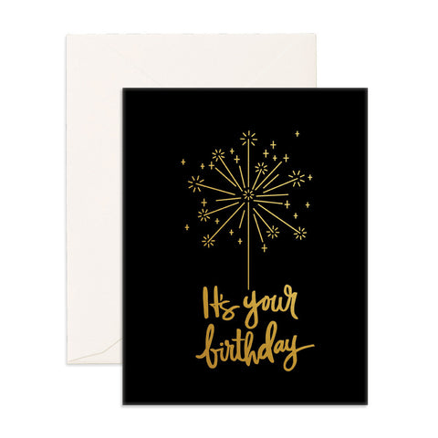 Birthday Sparkler Greeting Card