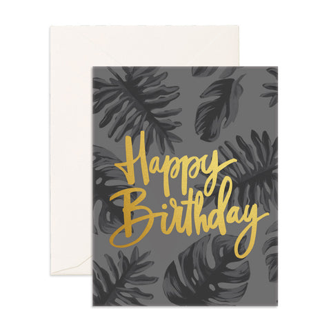 Happy Birthday Gold Greeting Card