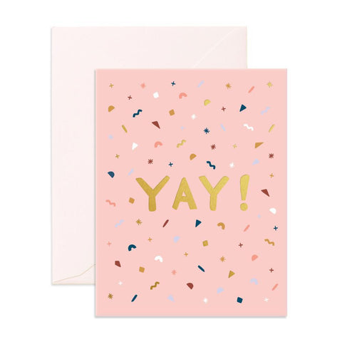 Yay Confetti Greeting Card