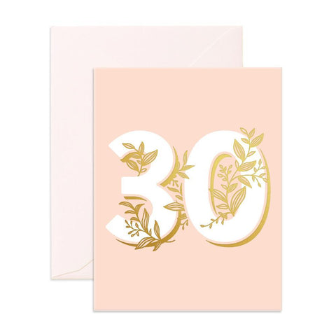 No. 30 Floral Greeting Card