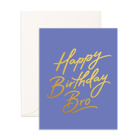 Happy Birthday Bro Greeting Card