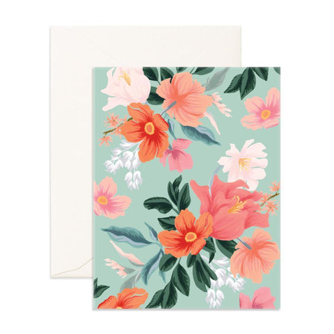 Wild Mint Blank Greeting Card