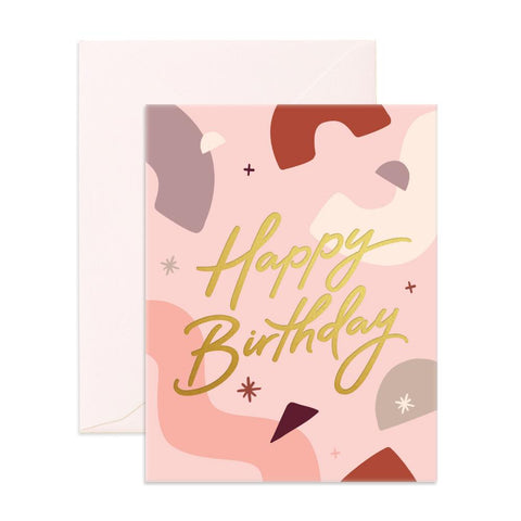 Happy Birthday Abstract Greeting Card