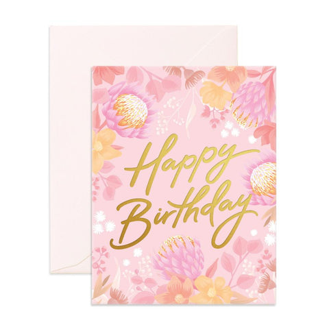 Happy Birthday Floribunda Greeting Card