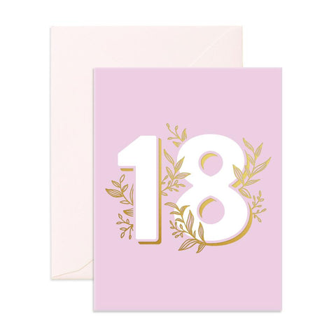 No. 18 Floral Greeting Card