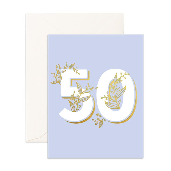 No. 50 Floral Greeting Card