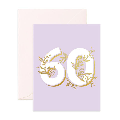 No. 60 Floral Greeting Card