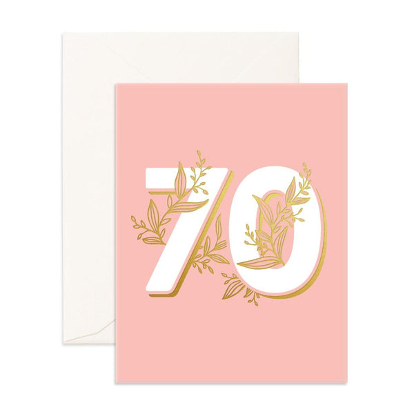 No. 70 Floral Greeting Card