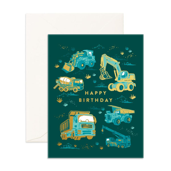 Happy Birthday Trucks Greeting Card - BACK ORDER