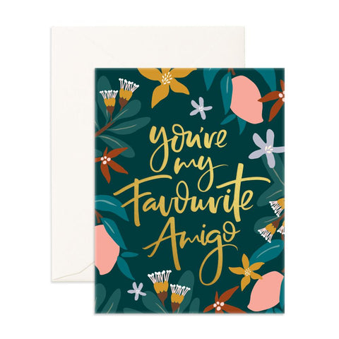Favourite Amigo Arcadia Greeting Card