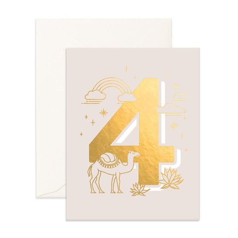 No. 4 Animals Greeting Card