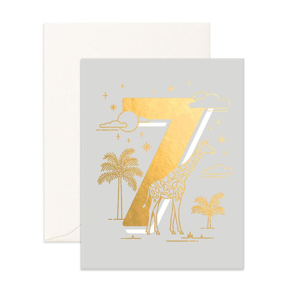 No. 7 Animals Greeting Card