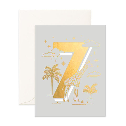 No. 7 Animals Greeting Card - Min. of 6 per style