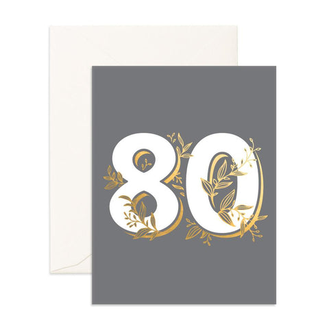 No. 80 Floral Greeting Card