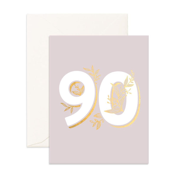 No. 90 Floral Greeting Card