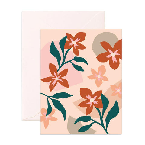 Muse Red Flowers Greeting Card - Min. of 6 per style