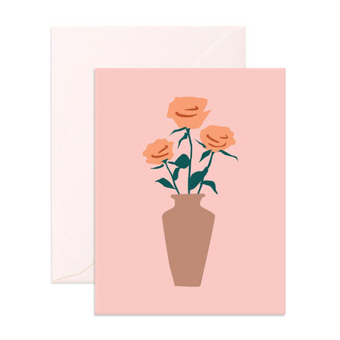 Muse Roses Greeting Card - Min. of 6 per style