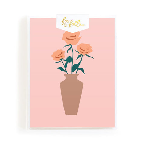 Muse Roses Greeting Card Boxed Set - Min. of 4 per style
