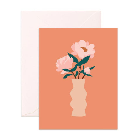 Muse Peonies Greeting Card - Min. of 6 per style