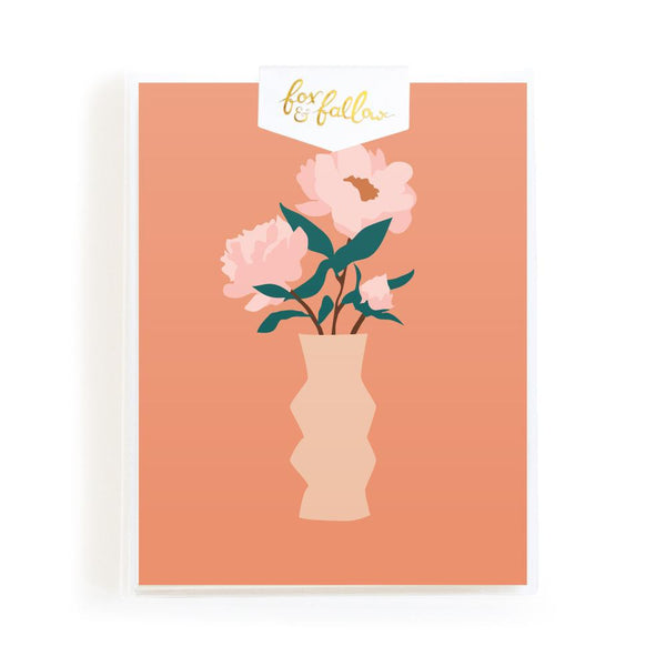 Muse Peonies Greeting Card Boxed Set