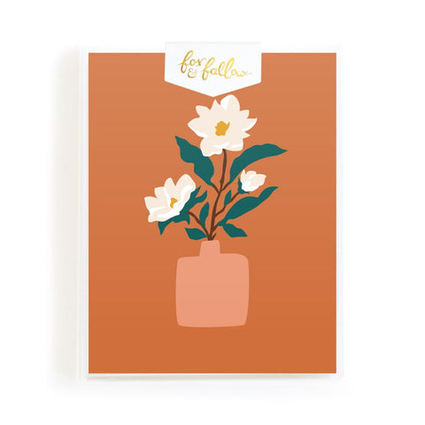 Muse Magnolias Greeting Card Boxed Set - Min. of 4 per style