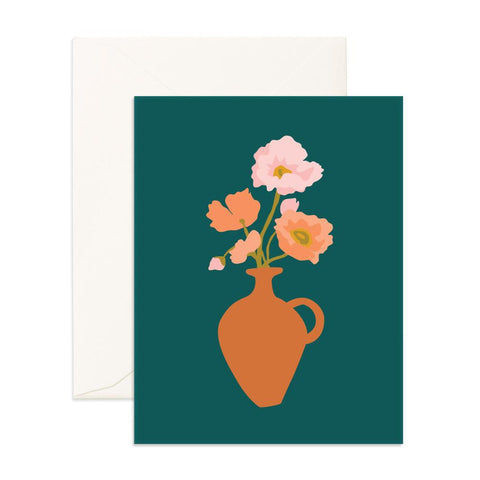 Muse Poppies Greeting Card - Min. of 6 per style