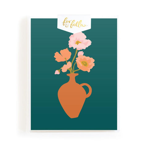 Muse Poppies Greeting Card Boxed Set - Min. of 4 per style