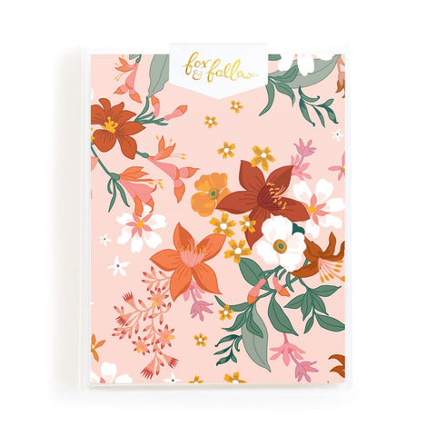 Bohemia Cream Florals Greeting Card Boxed Set - Min. of 4 per style