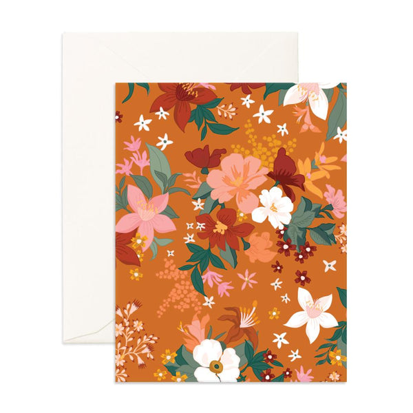 Bohemia Turmeric Florals Greeting Card - Min. of 6 per style