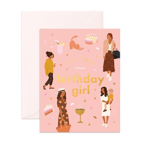 Muse Birthday Girl Greeting Card - Min. of 6 per style