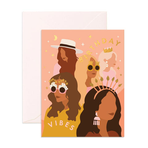 Birthday Vibes Greeting Card - Min. of 6 per style