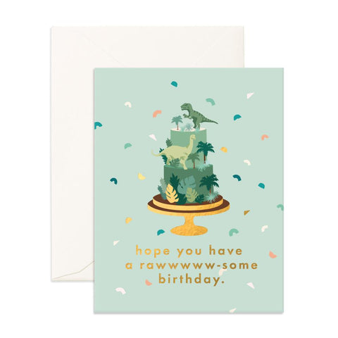 Raw-some Birthday Greeting Card