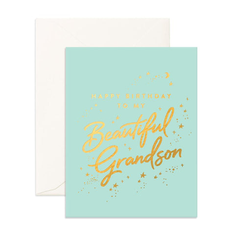 Beautiful Grandson Greeting Card - Min. of 6 per style