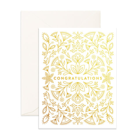 Congratulations Greeting Card - BACK ORDER (NEW STOCK ARRIVING LATE NOVEMBER)