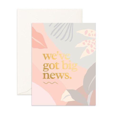 Big News Collage Greeting Card