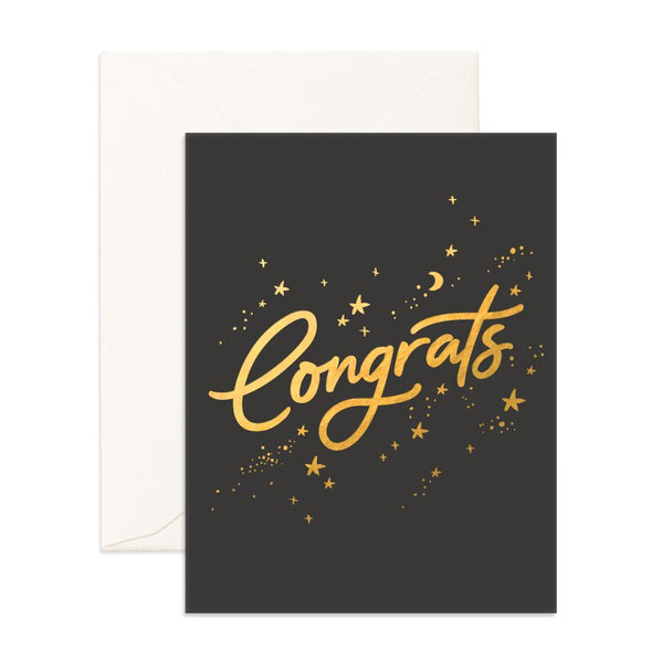 Congrats Stars Greeting Card