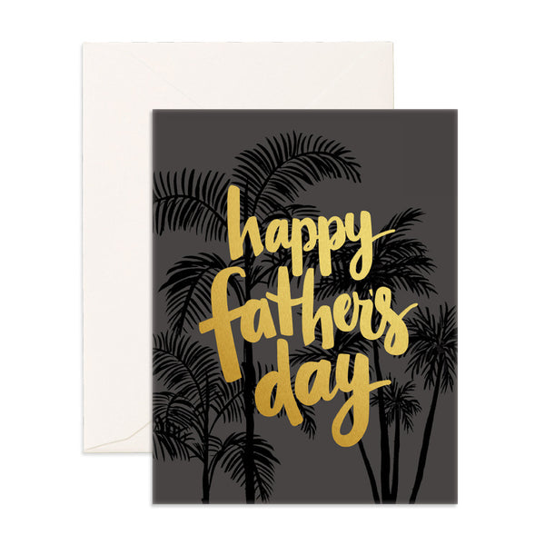 Father's Day Palms Greeting Card