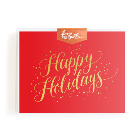 Happy Holidays Greeting Card Boxed Set
