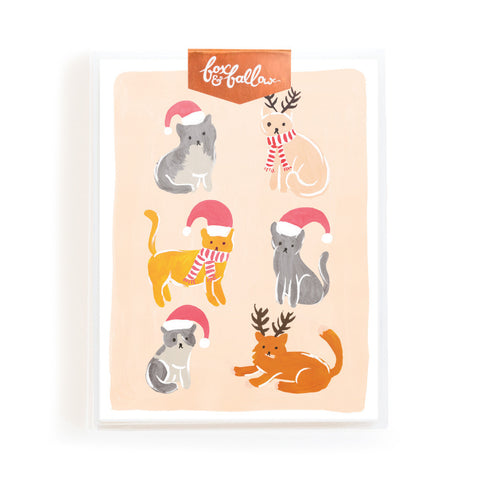 Christmas Cats Greeting Card Boxed Set