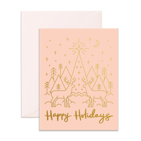 Holiday Reindeer Greeting Card