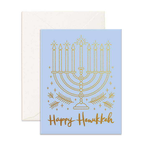 Happy Hanukkah Menorah Greeting Card