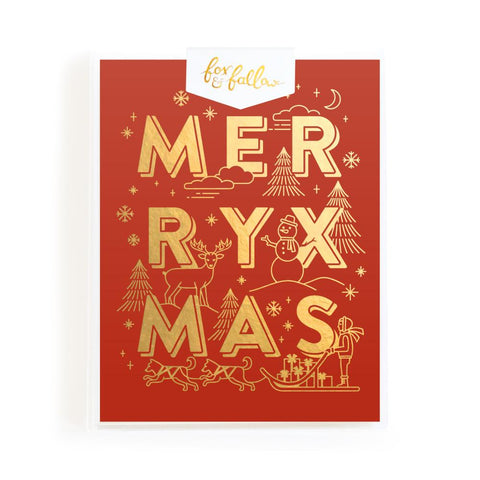 Merry XMAS Greeting Card Boxed Set