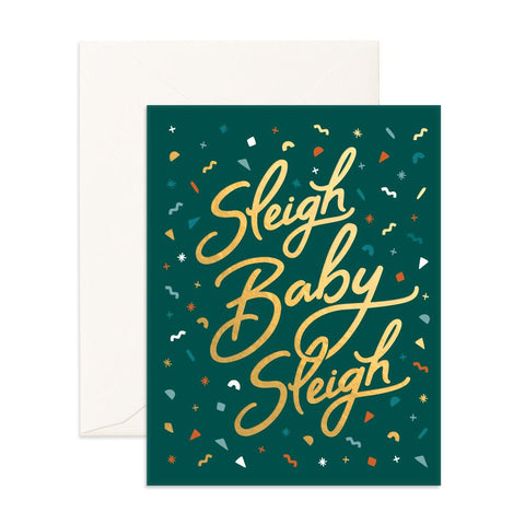 Sleigh Baby Sleigh Greeting Card