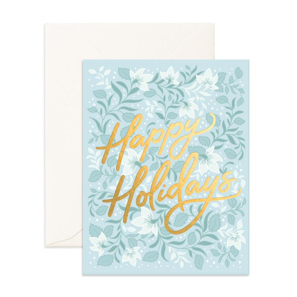 Happy Holidays Bohemia Greeting Card