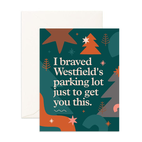 Westfield Parking Lot Greeting Card