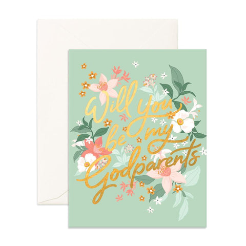 Godparents Bohemia Greeting Card - Min. of 6 per style