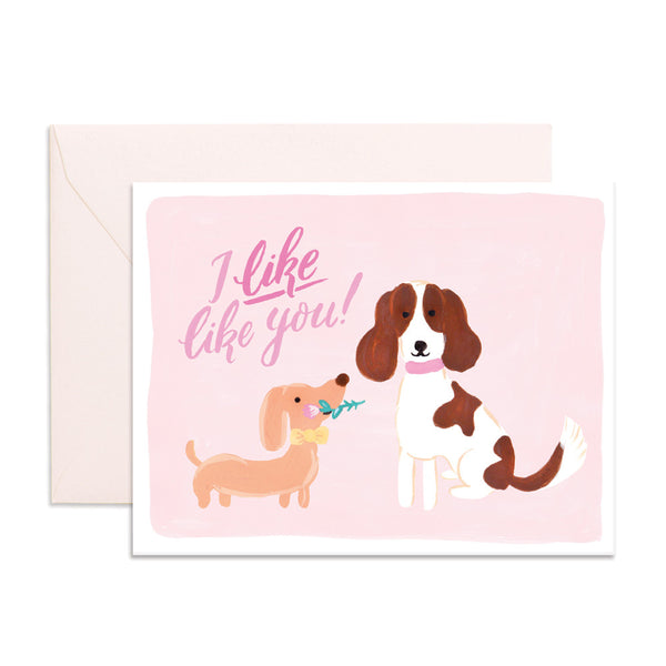 Valentine's Dogs Greeting Card