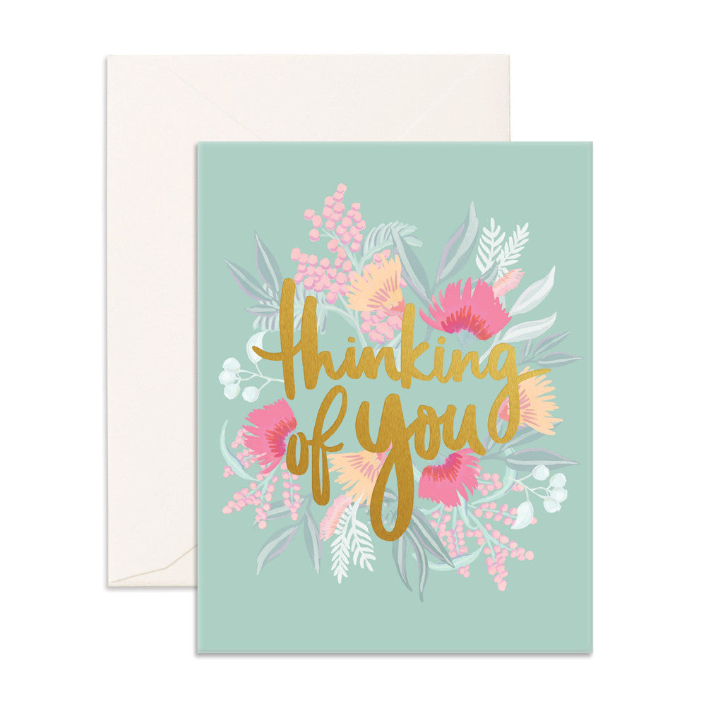 Thinking Of You Greeting Card Fox Fallow