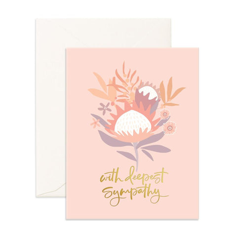 Deepest Sympathy Arcadia Greeting Card - BACK ORDER (NEW STOCK ARRIVING FEB 2020)